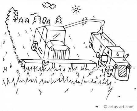 Acker - Ackerbau Ausmalbild