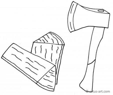 Axe Coloring Page