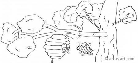 Bienenstock Ausmalbild