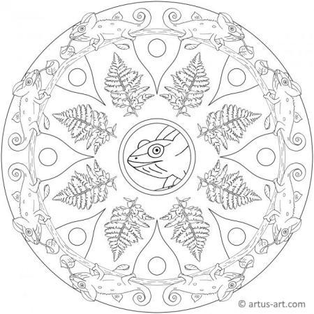 Chamäleon Mandala