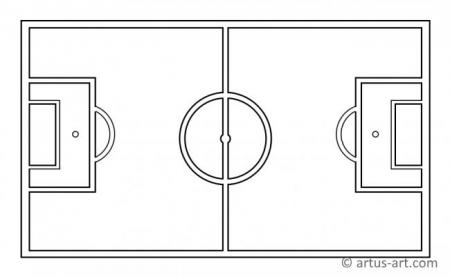 Soccer Pitch Coloring Page