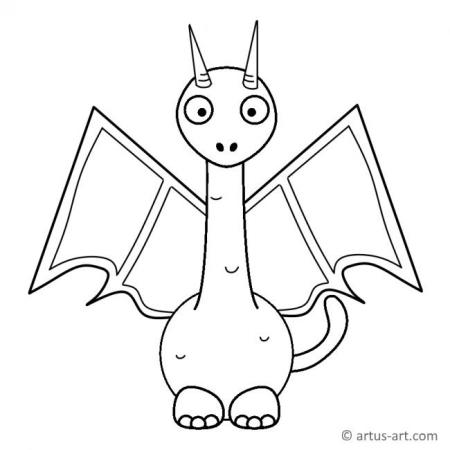 Small Dragon Coloring Page