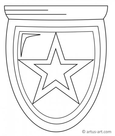 Polizeimarke Ausmalbild