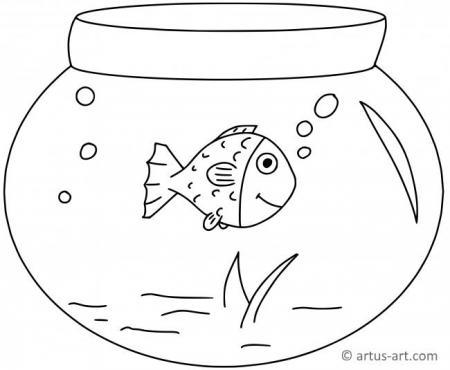 Aquarium Ausmalbild