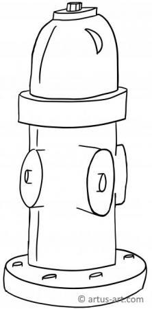 Hydrant Ausmalbild