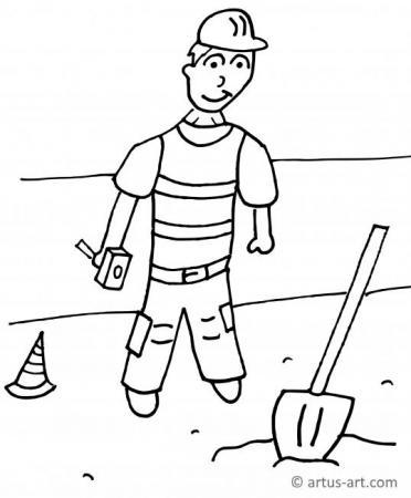 Bauarbeiter Ausmalbild
