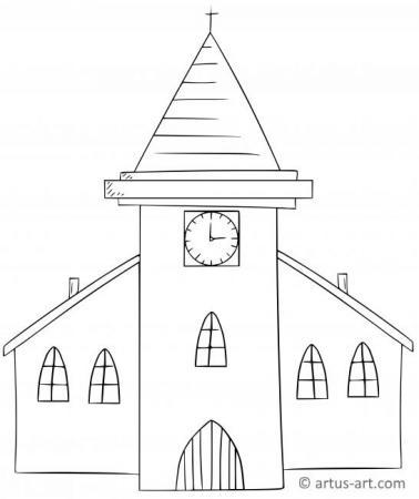 Kirche Ausmalbild