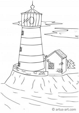 Leuchtturm Ausmalbild