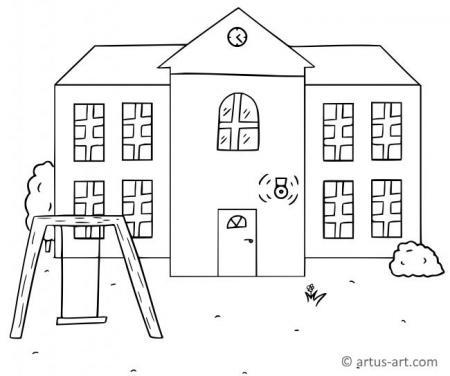 Bauwerke & Gebäude Ausmalbilder
