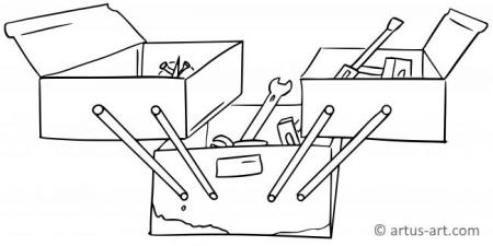 Toolbox Coloring Page