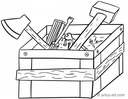 Werkzeugkiste Ausmalbild