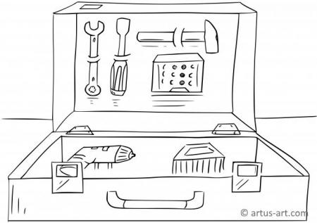 Tool Case Coloring Page