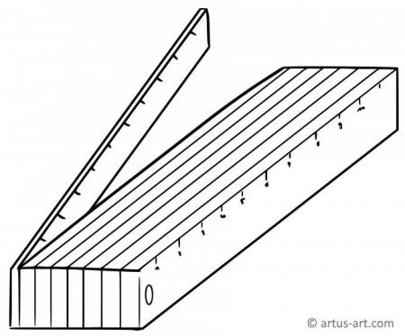 Folding Rule Coloring Page