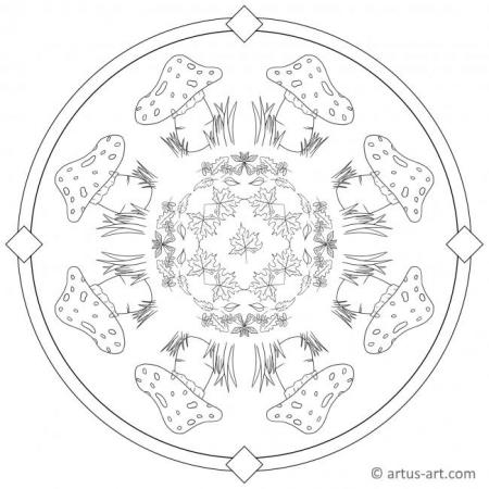 Fly Agaric Coloring Page