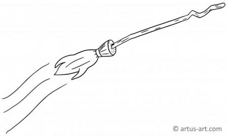 Magic Broom Coloring Page