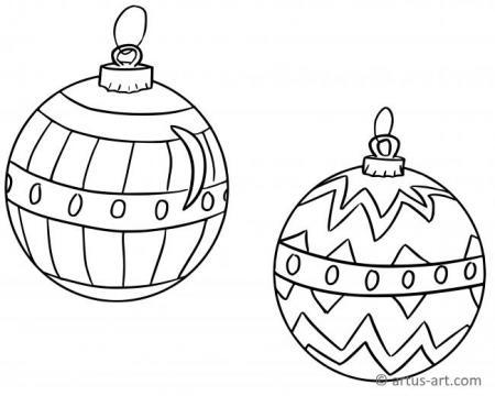 Christmas Tree Ball Coloring Page