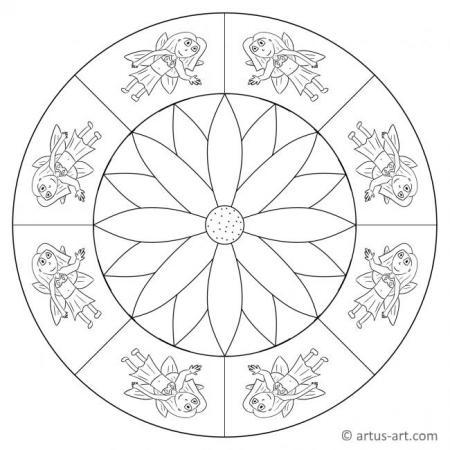 Fee mit Blume Mandala