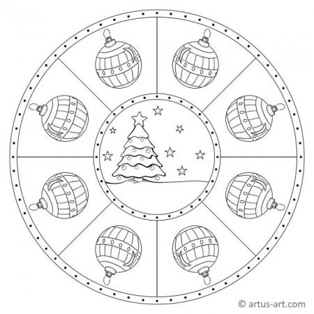 Christbaum Mandala