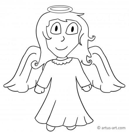 Engel Ausmalbild