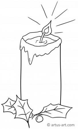 Kerze Ausmalbild
