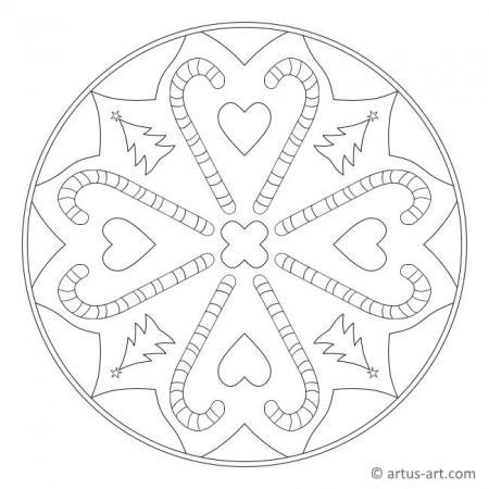 Zuckerstange Mandala