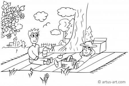 Picknick Ausmalbild