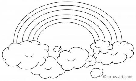 Rainbow Coloring Page