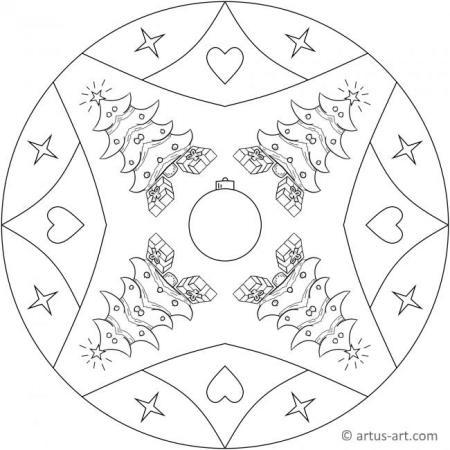 Weihnachtsbaum Mandala
