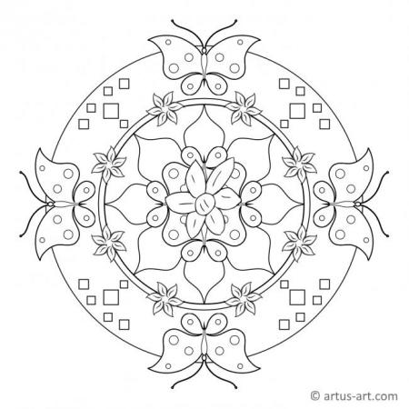 Spring Butterfly Mandala