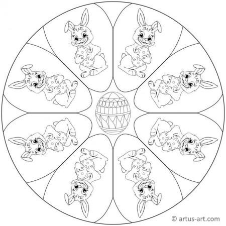 Osterhase Mandala