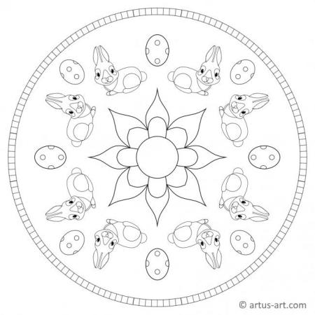 Ostern Blume Mandala