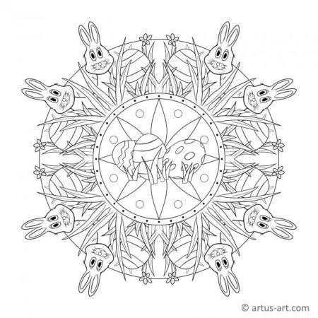 Ostern Frühling Mandala