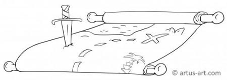 Treasure Map Coloring Page