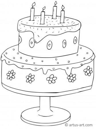 Torte Ausmalbild