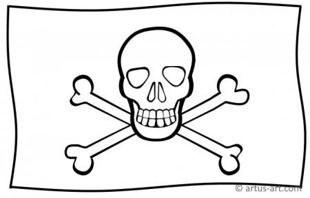 Piraten Flagge Ausmalbild