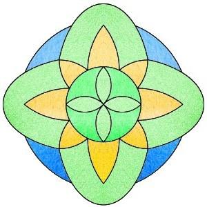 Malvorlagen Mandala bunt